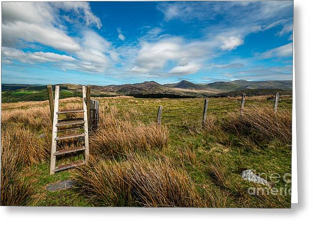 Step Ladder Greeting Cards - Gateway To The Mountains Greeting Card by Adrian Evans