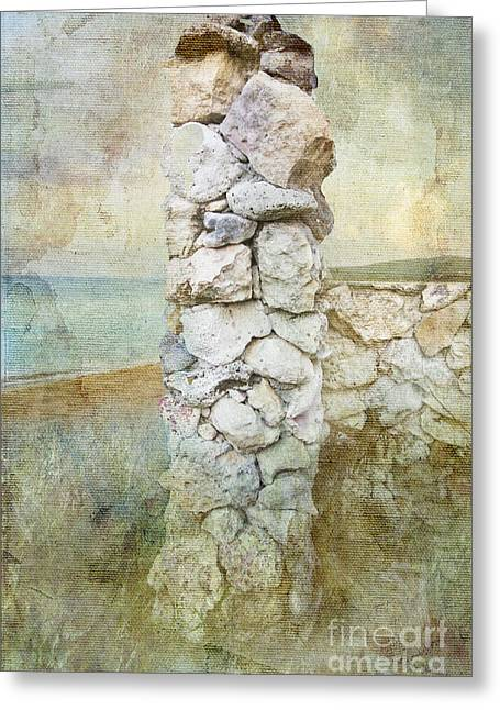 Stone Fence Greeting Cards - Gateway to the Sea Greeting Card by Betty LaRue