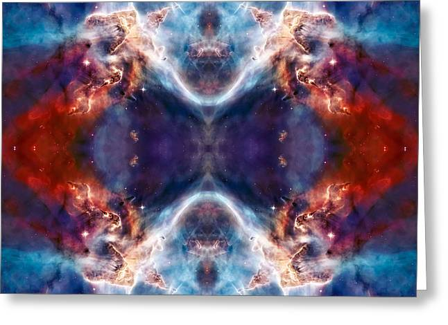 Nebula Photograph Greeting Cards - Gateway to the Universe - Carina Nebula Greeting Card by The  Vault - Jennifer Rondinelli Reilly