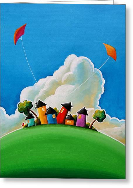 People Paintings Greeting Cards - Gather Round Greeting Card by Cindy Thornton