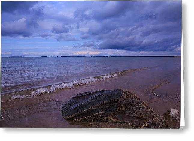 Storm Cloud On The Horizon Greeting Cards - Gather Round the Rock Greeting Card by Rachel Cohen