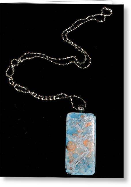 Lit Jewelry Greeting Cards - Gathering Branch Domino Pendant Greeting Card by Beverley Harper Tinsley