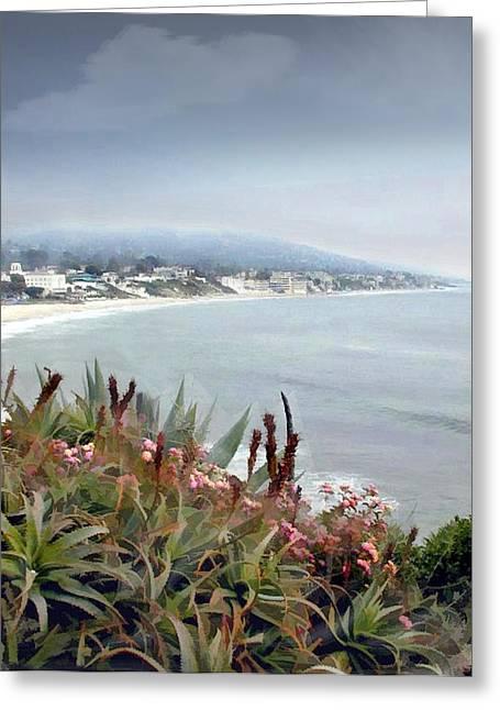 Gathering Coastal Storm Greeting Card by Elaine Plesser