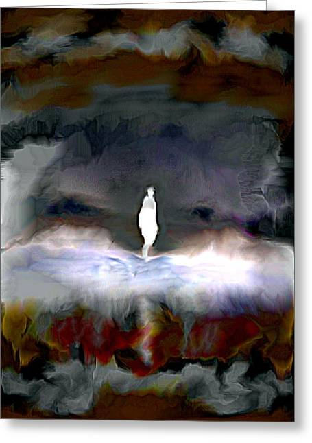 Ghostly Greeting Cards - Gathering Storm Greeting Card by Karunita Kapoor