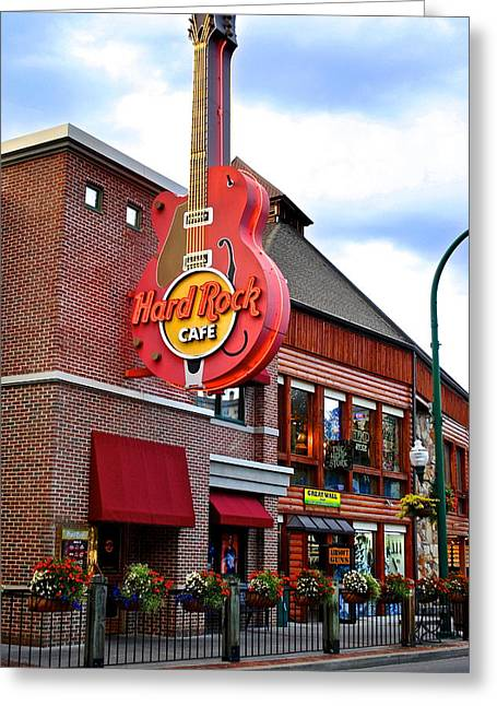 Randy Greeting Cards - Gatlinburg Hard Rock Cafe Greeting Card by Frozen in Time Fine Art Photography