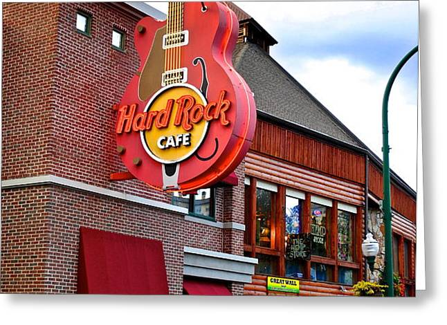 Gatlinburg Hard Rock Cafe Greeting Card by Frozen in Time Fine Art Photography