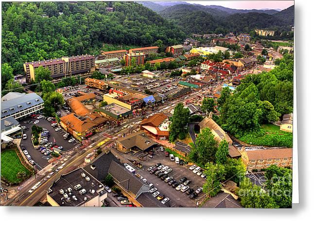 Gatlinburg Tennessee Photographs Greeting Cards - Gatlinburg Tennessee Greeting Card by Michael Eingle
