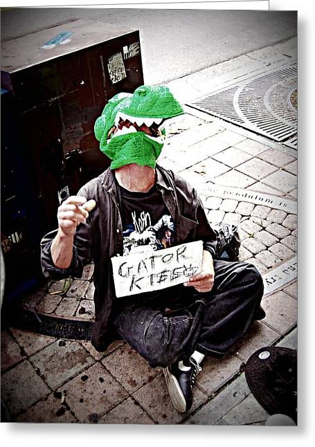 Plight Greeting Cards - Gator Kisses  Greeting Card by Heart On Sleeve ART