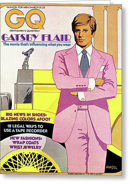 Gatsby Flair Greeting Card by Richard Amsel