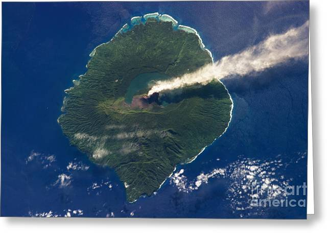 Satellite View Greeting Cards - Gaua Island Greeting Card by Science Source