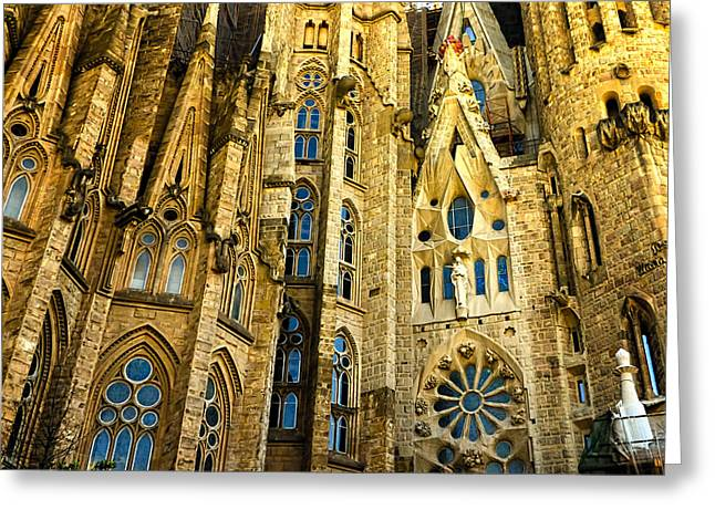 Berghoff Greeting Cards - Gaudi - Sagrada Familia Greeting Card by Jon Berghoff