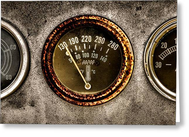 Indicator Greeting Cards - Gauges  Greeting Card by Olivier Le Queinec