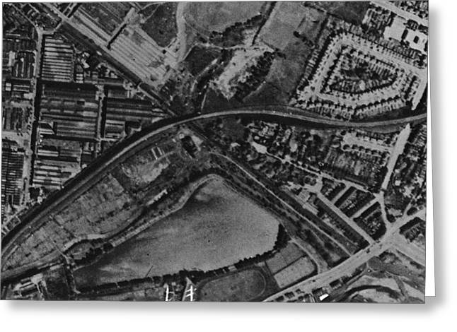 Post-war Greeting Cards - Gavelly Hill, Historical Aerial View Greeting Card by Getmapping Plc