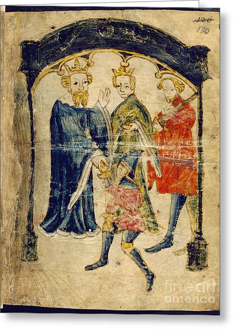Armor Concept Greeting Cards - Gawains Return To Court Greeting Card by British Library