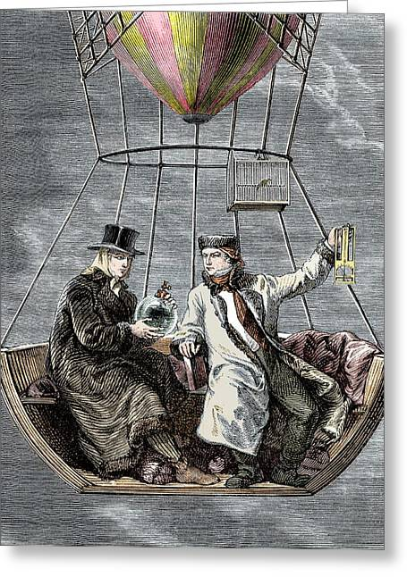 Gay-lussac And Biot Balloon Ascent Greeting Card by Sheila Terry