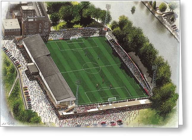 Art Mobile Greeting Cards - Gay Meadow - Shrewsbury Town Greeting Card by Kevin Fletcher