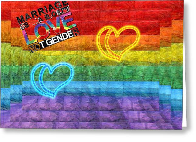Gay Relationship Greeting Cards - Gay Pride Greeting Card by Robert Roland