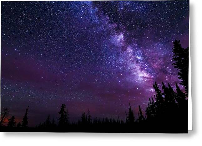 Milky Way Photographs Greeting Cards - Gaze Greeting Card by Chad Dutson