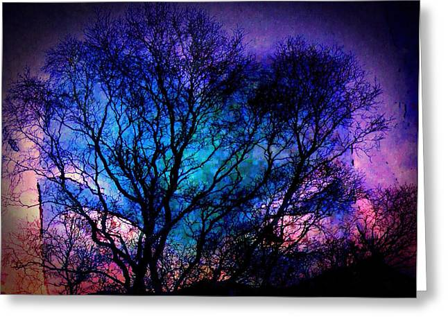Mystical Landscape Greeting Cards - Gaze of the Infinite I Greeting Card by Susan Maxwell Schmidt