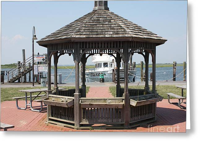 Art In Acrylic Greeting Cards - Gazebo At Captree State Park Greeting Card by John Telfer