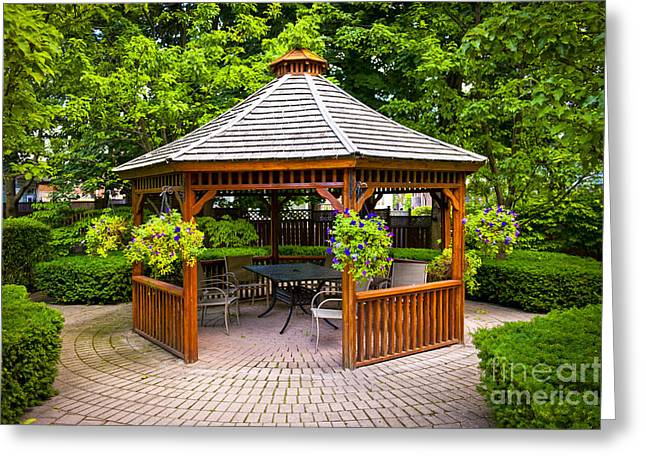 Patio Greeting Cards - Gazebo  Greeting Card by Elena Elisseeva