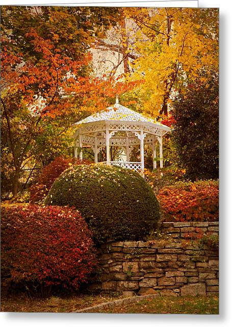 Jessica Photographs Greeting Cards - Gazebo Garden Greeting Card by Jessica Jenney