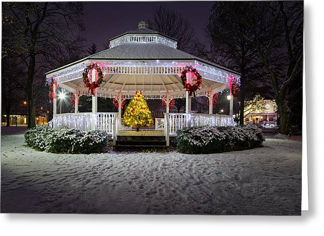 Irvine Greeting Cards - Gazebo in Beaver Pa Greeting Card by Emmanuel Panagiotakis