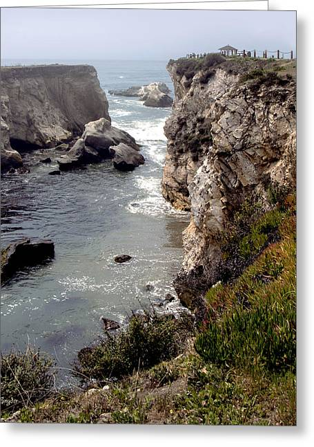 Beach Photos Digital Greeting Cards - Gazebo On The Cliffs of Pismo Beach 2 Greeting Card by Barbara Snyder