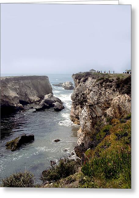 Beach Photos Digital Greeting Cards - Gazebo On The Cliffs of Pismo Beach  Greeting Card by Baarbara Snyder
