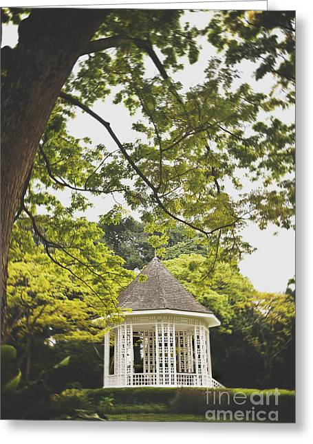 Bandstand Greeting Cards - Gazebo waiting for you Greeting Card by Ivy Ho
