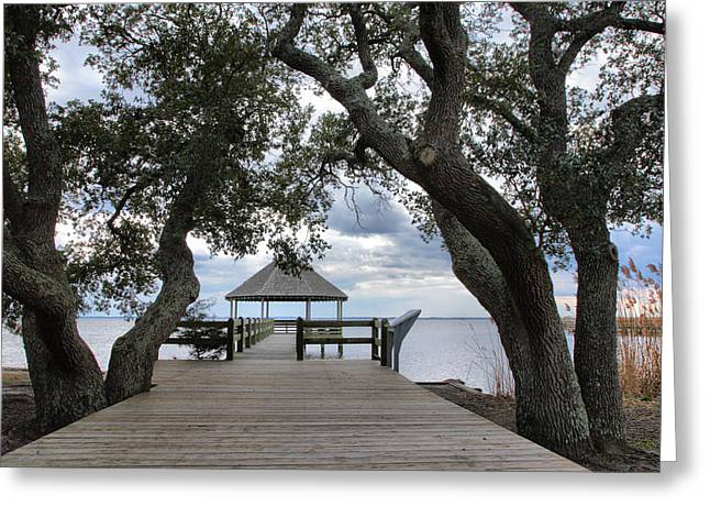 Gazebo Greeting Card Greeting Cards - Gazebo With A View I Greeting Card by Steven Ainsworth