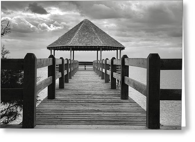 Gazebo Greeting Card Greeting Cards - Gazebo With A View II Greeting Card by Steven Ainsworth