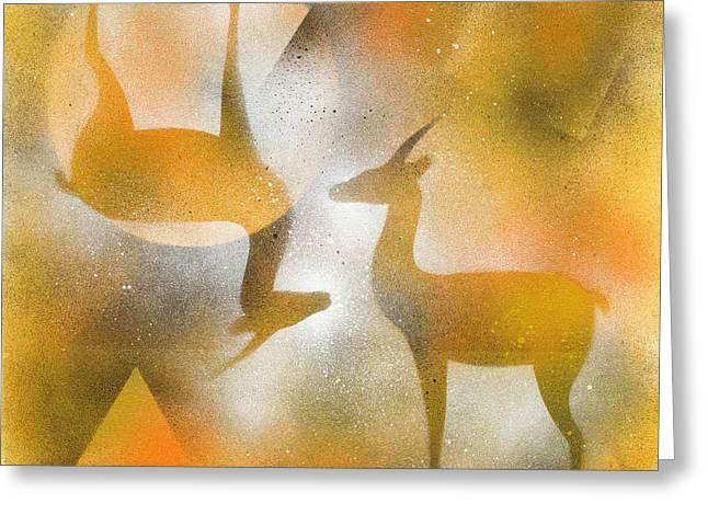 Gazelles Greeting Card by Hakon Soreide