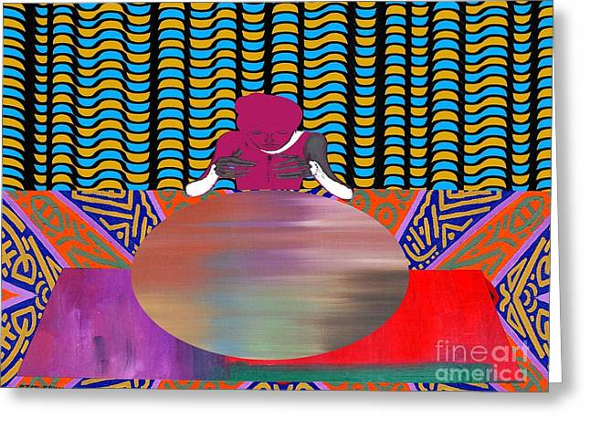 Gypsy Mixed Media Greeting Cards - Gazing Into The Crystal Ball Greeting Card by Patrick J Murphy