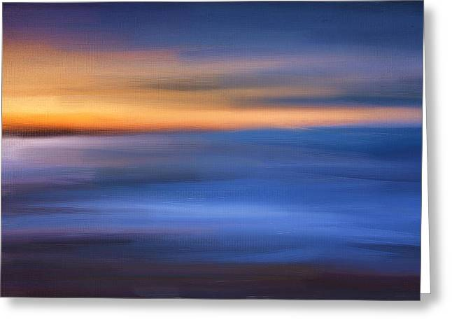 New England Ocean Digital Art Greeting Cards - Gazing The Horizon Greeting Card by Lourry Legarde