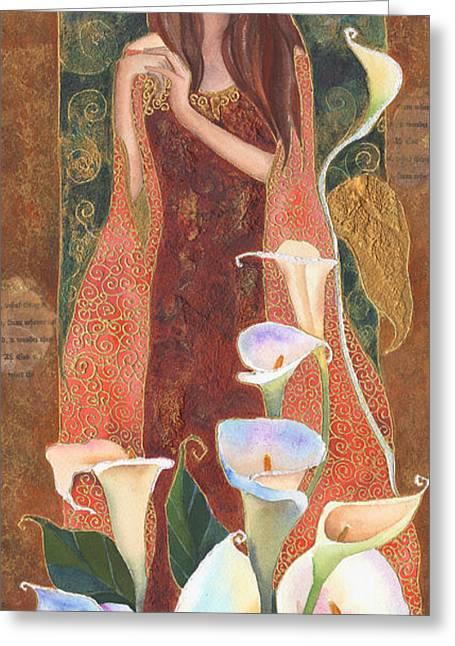 No Love Greeting Cards - Gazing Where the Lilies Blow Greeting Card by Kate Bedell