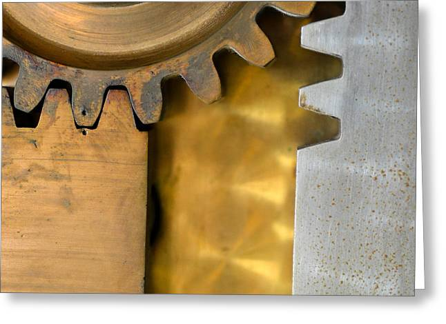 Bill Mock Greeting Cards - Gear Abstract Greeting Card by Bill Mock