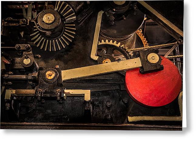 Mechanism Photographs Greeting Cards - Gear Box Greeting Card by Paul Freidlund