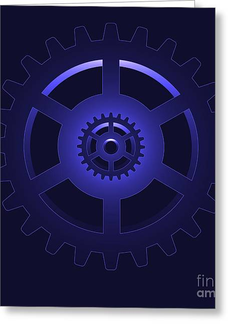 Cog Greeting Cards - Gear - Cog Wheel Greeting Card by Michal Boubin