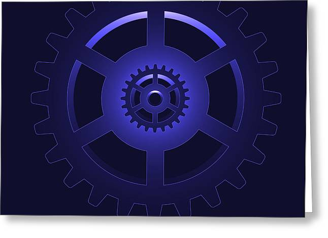 gear - cog wheel Greeting Card by Michal Boubin