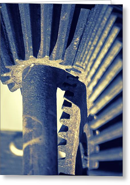 Mechanism Greeting Cards - Gear wheel mechanism Greeting Card by GP Images