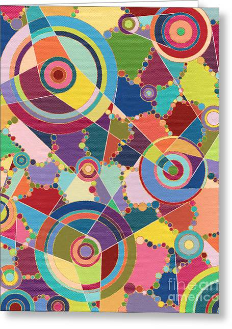 Cog Paintings Greeting Cards - Gears and Cogs Greeting Card by Amy Nelson