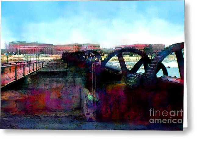 Indiana Images Digital Art Greeting Cards - Gears of Industry Greeting Card by Thomas Zuber