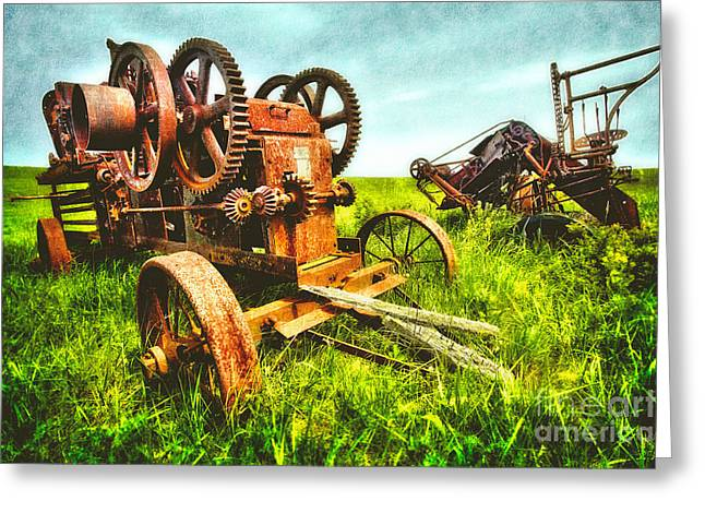 Pasture Framed Prints Greeting Cards - Gears of the Past II - Blue Ridge Greeting Card by Dan Carmichael