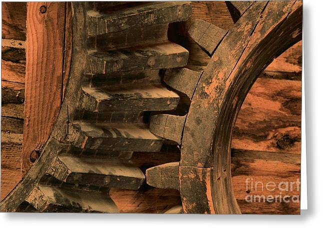 Old Gears Greeting Cards - Gears On Break Greeting Card by Adam Jewell