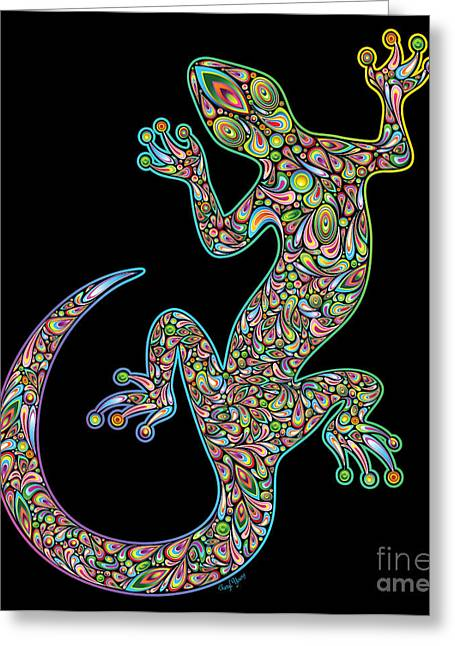 Geckos Greeting Cards - Gecko Greeting Card by Cheryl Young