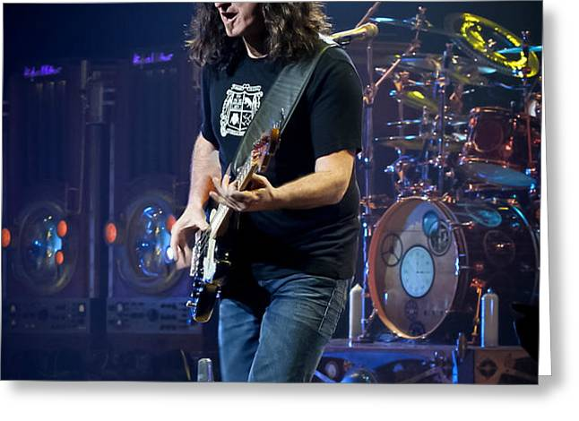 Geddy Lee Greeting Card by April Reppucci