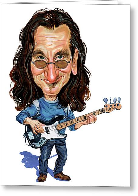 Awesome Greeting Cards - Geddy Lee Greeting Card by Art