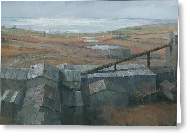 Industrial Landscape Greeting Cards - Geevor Tin Mine Greeting Card by Steve Mitchell