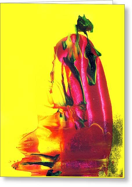 Geisha Greeting Card by Modern Art Prints